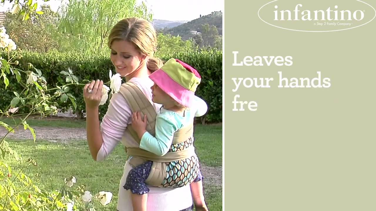 Infantino Wrap Tie Soft Carrier Youtube
