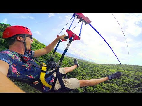 ONE OF THE LONGEST ZIPLINES IN THE CARIBBEAN! (St Kitts)