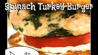 Spinach Turkey Burger Recipe [day 98]