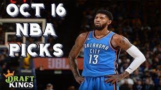 10/16/18 NBA DraftKings Picks (Opening Night!)