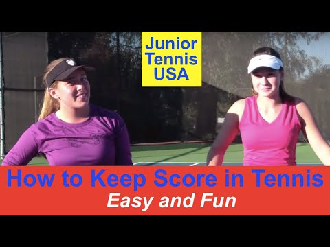 How to keep score in tennis.