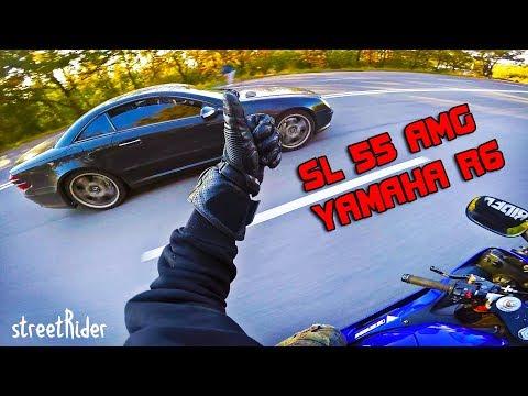 видео: ЧУВАК НА МЕРСЕ ПЫТАЛСЯ | Mercedes-Benz SL55 AMG V8  vs Yamaha R6