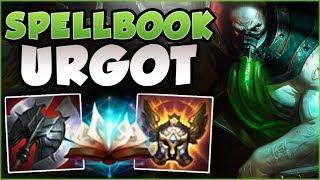 THE NEW OP UGROT BUILD CHALLENGERS ARE ABUSING! SPELLBOOK URGOT TOP GAMEPLAY! - League of Legends