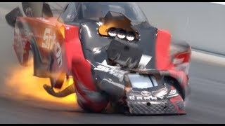 Cruz Pedregon blows the body off his Funny Car