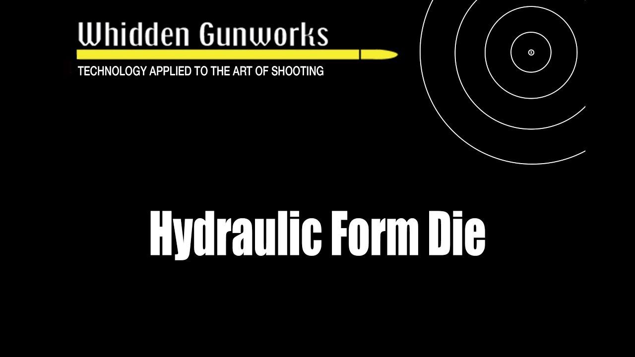 Hydraulic Form Die | Whidden Gunworks