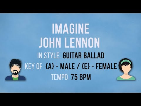 Imagine - Female - Male Karaoke Backing Track