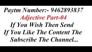 Adjective Part-04 FOCUSED ON|| SSC CGL || BANKING || RAILWAYS || CAT || CDS || NDA || OTHER EXAMS ||