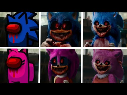 Sonic The Hedgehog Movie 2 Among Us Uh Meow All Designs Compilation (Sonic.exe & Amy.exe)