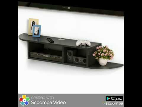 Modern Wall Mount Floating Shelf TV Console