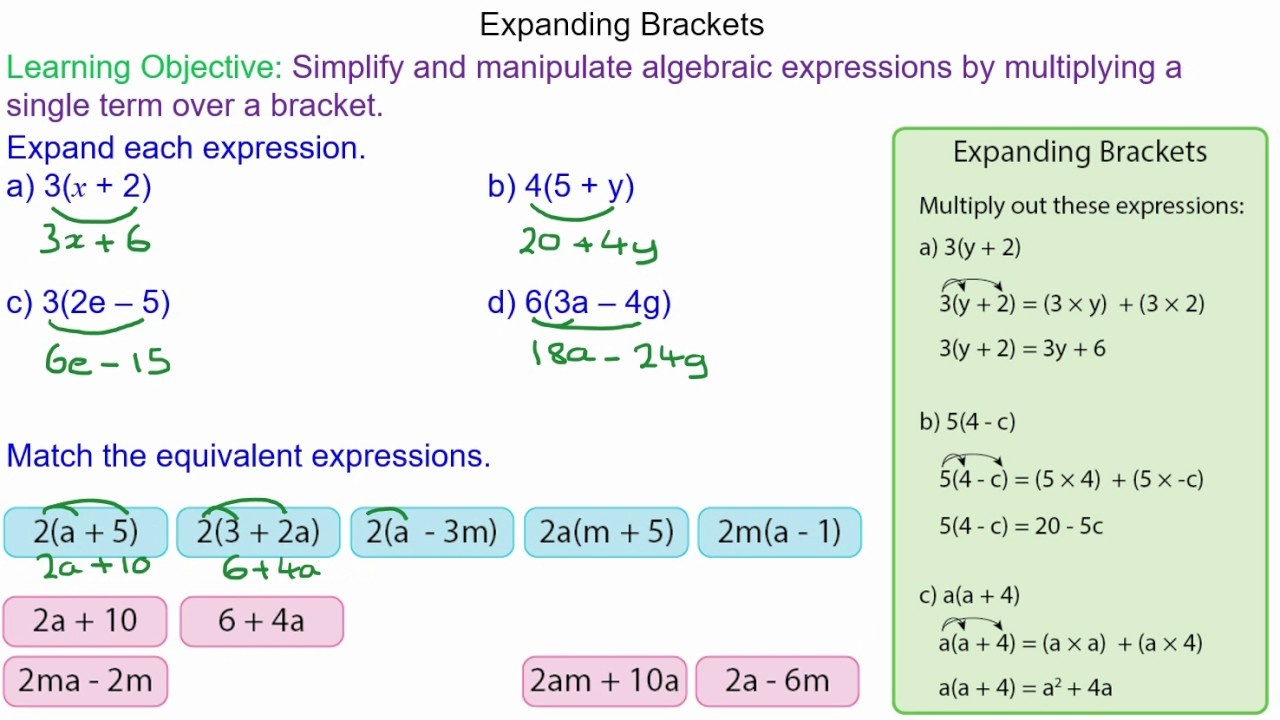 Multiplying out algebraic brackets - Mr-Mathematics.com