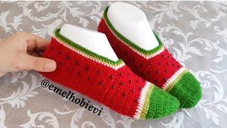 Karpuz Patik Yapımı / Watermelon Slippers