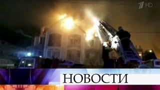 В центре Анапы минувшей ночью тушили крупный пожар.