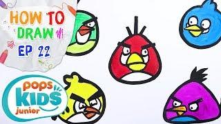 Sắc Màu Tuổi Thơ - Tập 22 - Bé Tập Vẽ Chim Angry Bird | How To Draw The Angry Birds For Kids