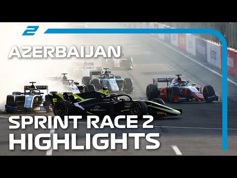 Formula 2 RACE 100! F2 Sprint Race 2 Highlights | 2021 Azerbaijan Grand Prix