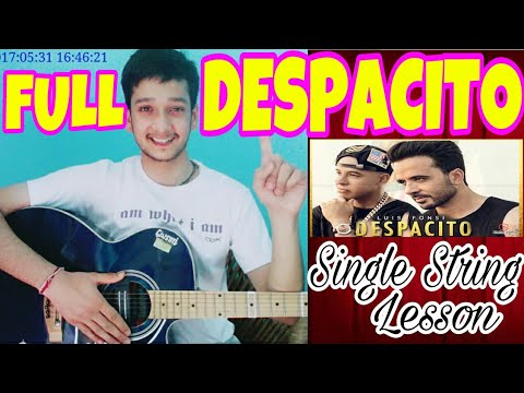 ANY BEGINNER CAN PLAY!! DESPACITO❤ EASIEST Single String🙌Guitar Tabs Lesson|Easiest Guitar Lesson