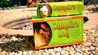 New Camping Products: Campfire Log And Wolf 'em Stick