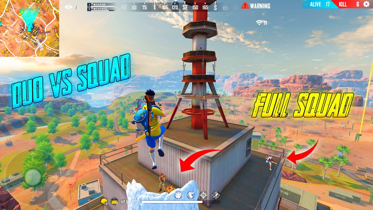 Duo vs Squad || Girls Annoy's me a Lot Today || Amazing Free Fire Funny Match || Garena Free Fire