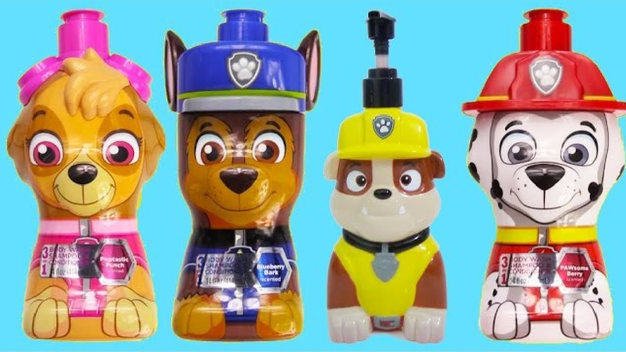 Download Paw Patrol Bath Paint Colors with Squirting Paddlin' Pups Pretend Play!