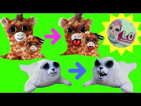 Feisty Pets Toys Giraffe  Bunny Rabbit Seal Crazy Teeth