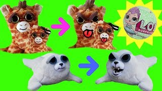 Feisty Pets Toy Surprises Giraffe Baby Bunny Rabbit Seal Crazy Teeth | Fizzy Toy Show