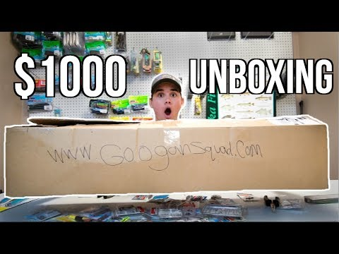 $1000 FISHING LURE UNBOXING!! (MY BIGGEST EVER)