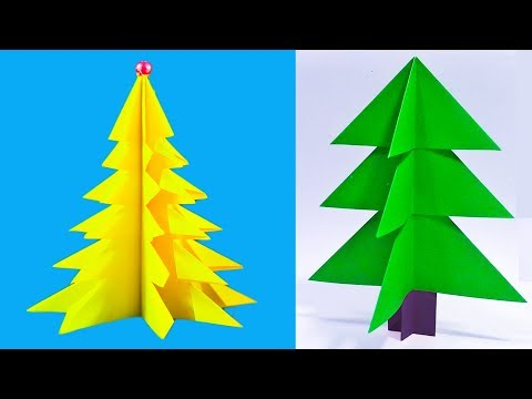 How to Make Christmas Tree with Paper | Christmas tree santaCLAUS | Paper Christmas tree | NK Crafts