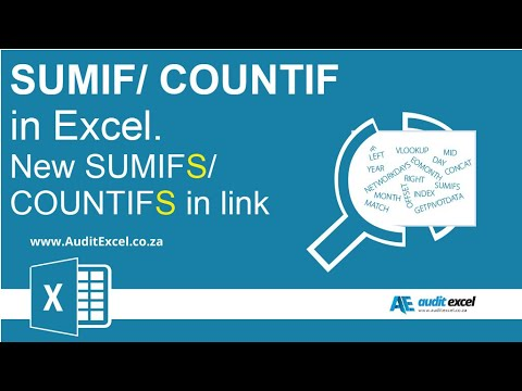 SUMIF and COUNTIF functions in Excel
