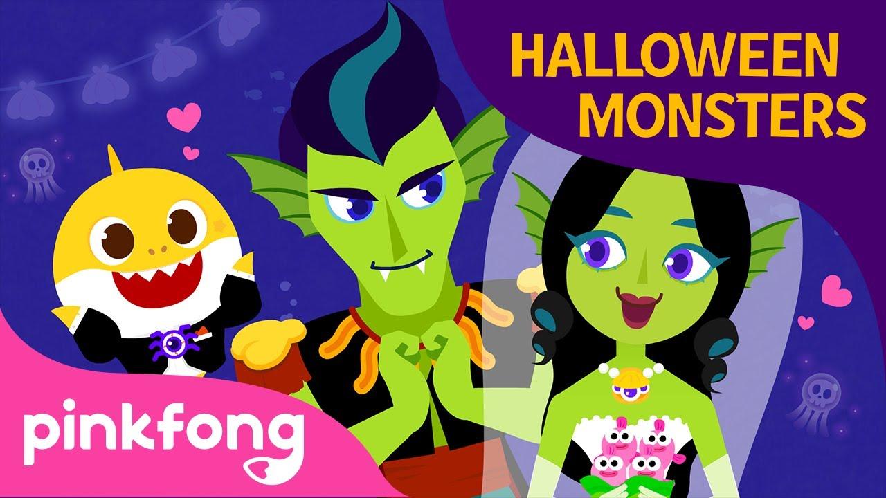 Halloween Mermaid Wedding | Halloween Songs | Baby Shark Halloween | Pinkfong Songs for Children