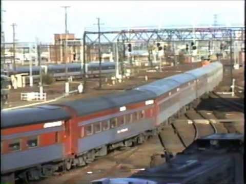 Trains at Melbourne's Spencer Street Station in 1996.