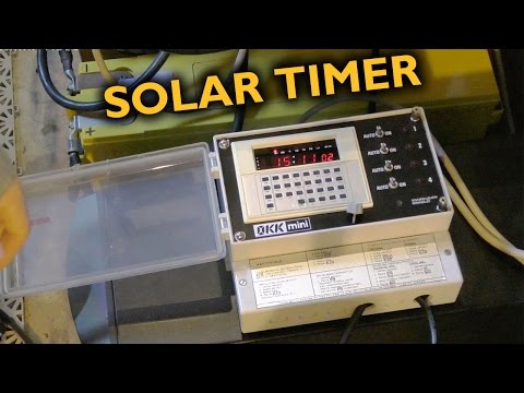 Using an industrial timer to dose out solar power because real grid-tie systems are for LOSERS!