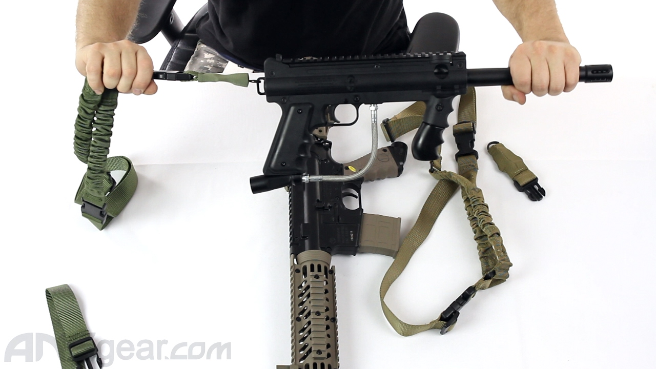 Black Nylon Bungee Single Point One Point Sling Tactical Rifle Gun Sling