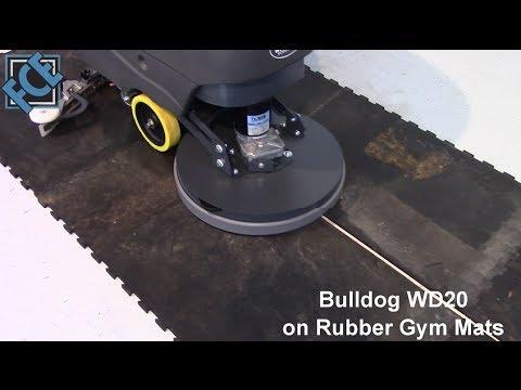 Bulldog Floor Scrubber on Rubber Gym Mats