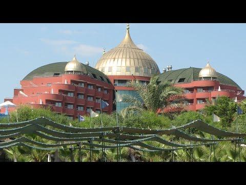 Hotel Delphin Palace - Lara Turkey. Beach Resort, video, movie shots & pictures