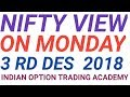 NIFTY VIEW ON MONDAY 3 RD DES 2018