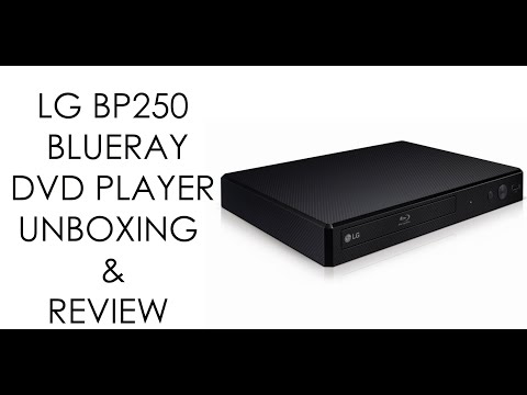 LG BP250 BLUERAY DVD PLAYER UNBOXING & REVIEW