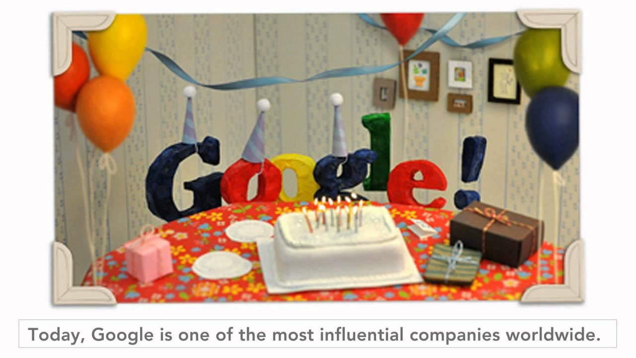 Happy 13th Birthday Google Doodle Youtube