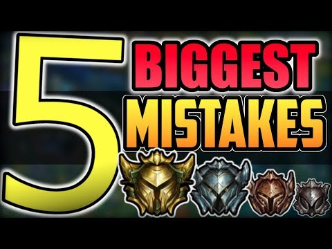 5 HUGE Mistakes LOW ELO/NOOBS Make WITHOUT REALIZING IT | League of Legends Season 9 thumbnail