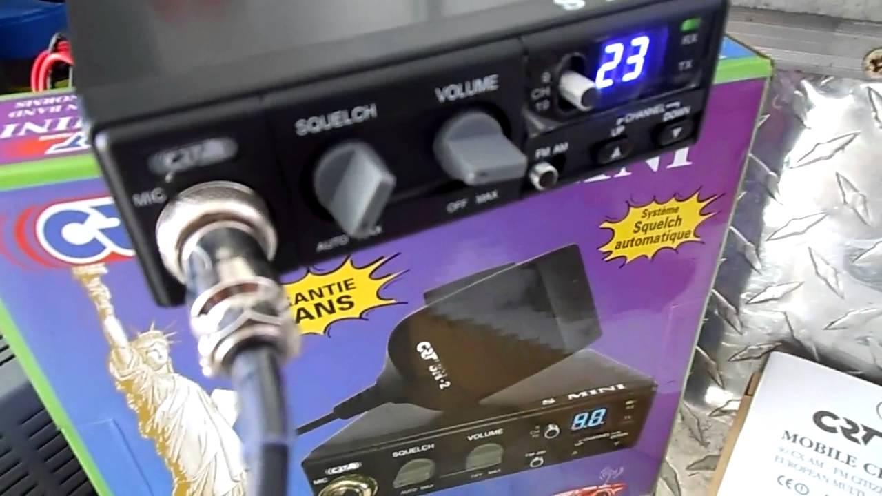 Schemi Elettrici Radio Cb : Testare unboxing prezentare statie radio cb crt s mini ii asc