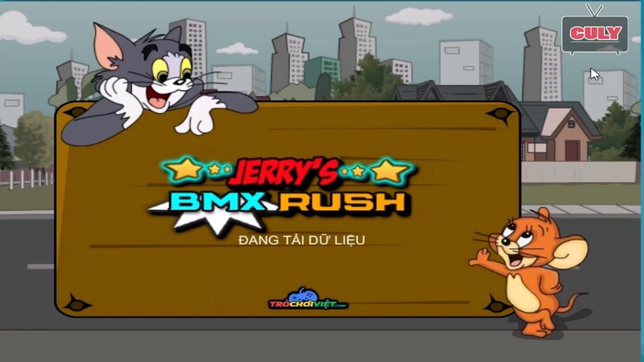 Chơi Tom & Jerry thi đua xe đạp   cu lỳ chơi game lồng tiếng vui nhộn funny gameplay