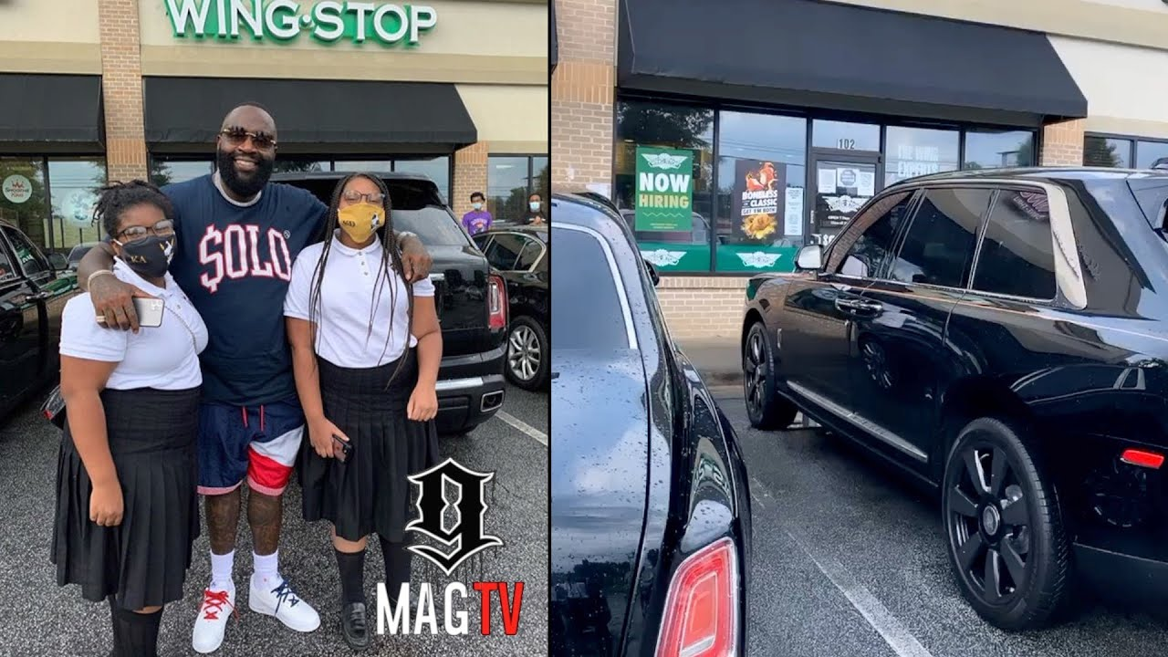 Rick Ross Pulls Up To His Wingstop