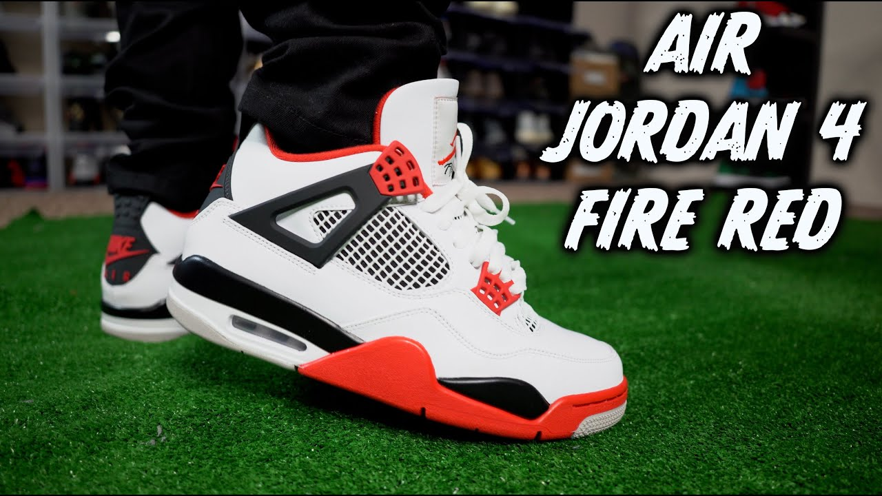 Early Air Jordan 4 Fire Red Review On Feet w/ Lace Styles!