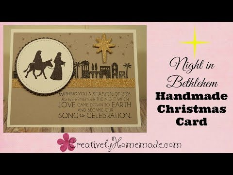 Beautiful Night In Bethlehem Handmade Christmas Cards Religious Youtube