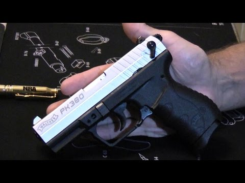 Walther PK380 - Easy to handle pistol.