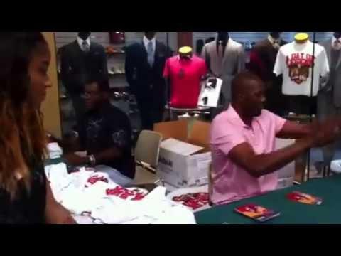 NBA Legends Hakeem Olajuwon & Calvin Murphy Public Appearance