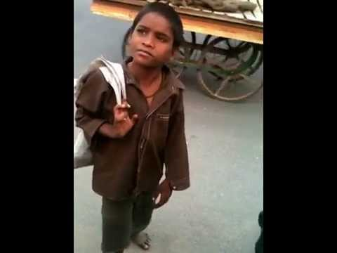 Rare interview! Candid Shot! of a Gullu Star kid of our Slum by hidden camera..