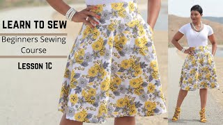 Beginner's Sewing Course - Project #1 - Circle Skirt (Part 3)
