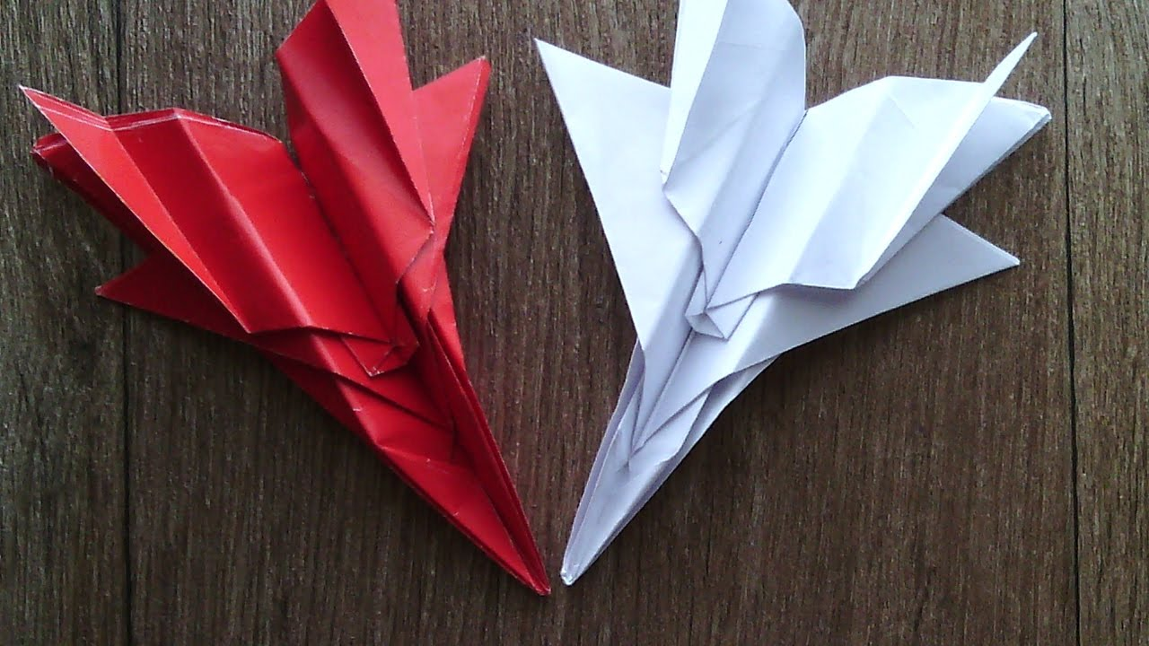 how to make a f15 paper airplane