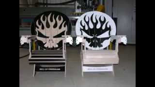 Skull Adirondack Chairs For Hell On Wheels Stunt Team