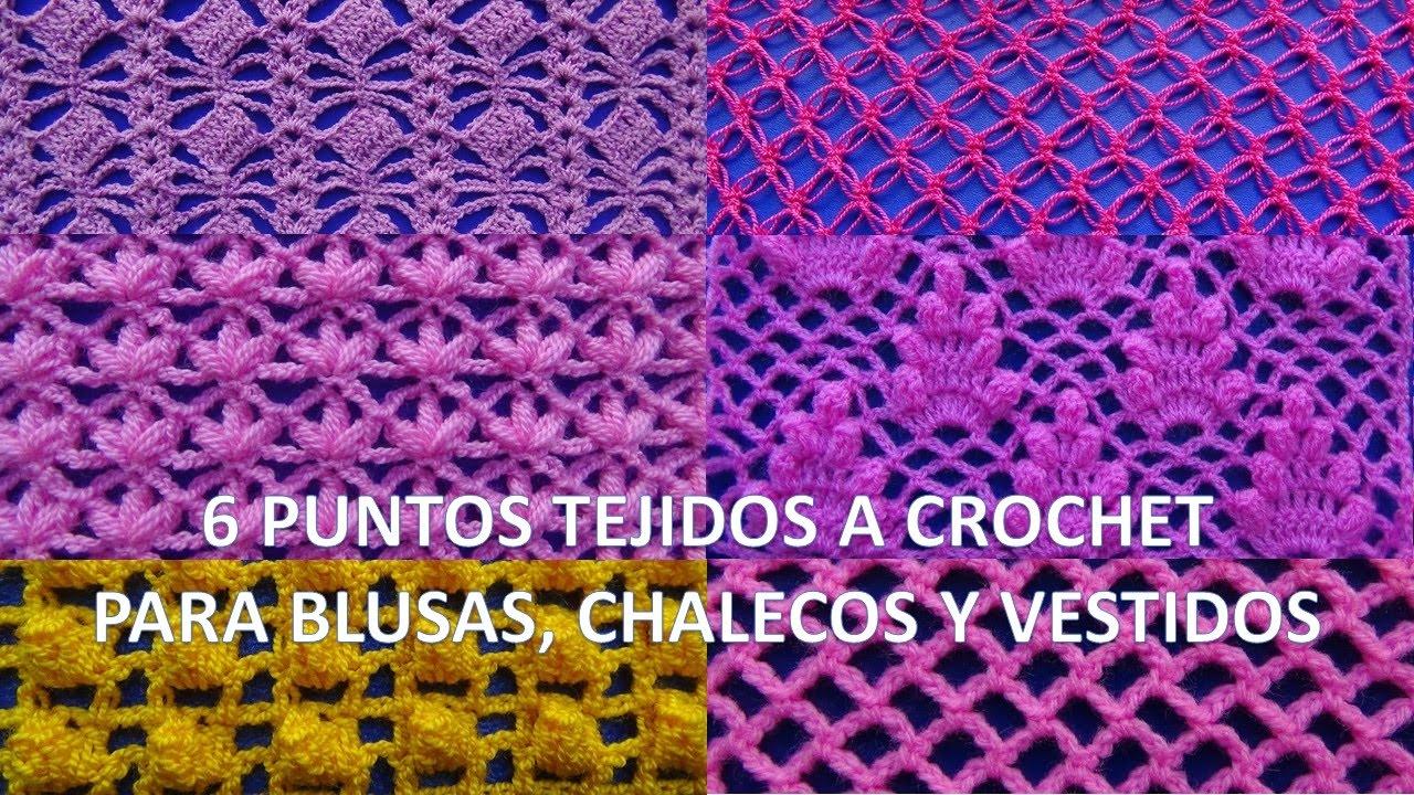 6 PUNTOS TEJIDOS A CROCHET PARA BLUSAS, CHALECOS Y VESTIDOS paso a ...
