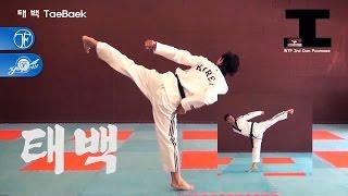 WTF Taekwondo Poomsae Taebaek 품새 태백 (taekwonwoo)